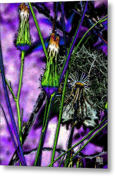 Earth Nail Metal Print by Michele Caporaso