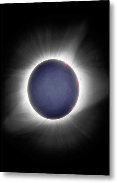Earth-shine Metal Print