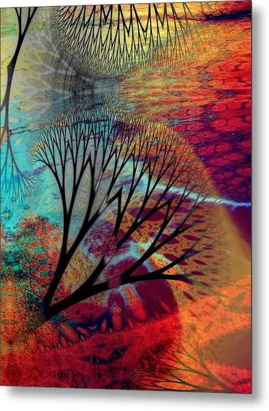 Earth Song 10 Metal Print by Helene Kippert