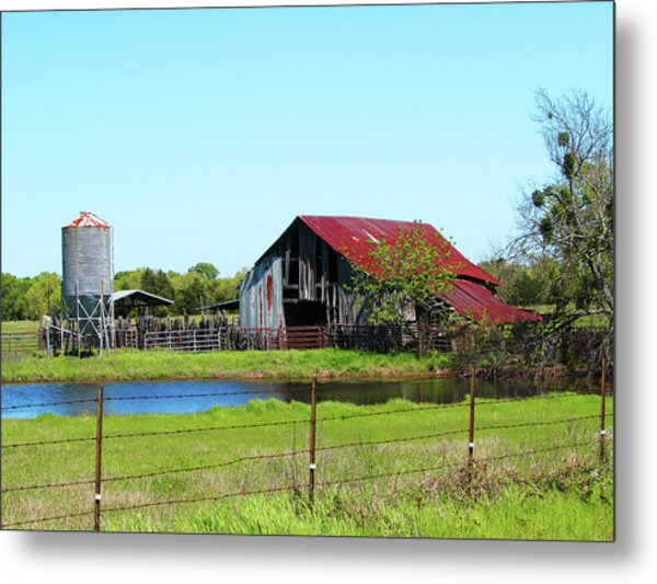 East Texas Barn Metal Print