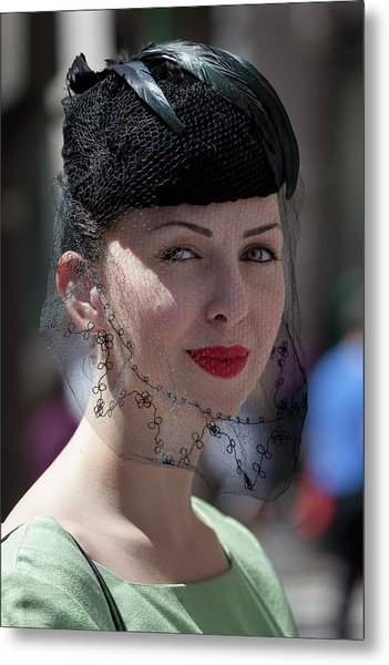 Easter Parade 2011 Hat And Veil Metal Print