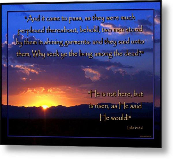 Easter Sunrise - He Is Risen Metal Print
