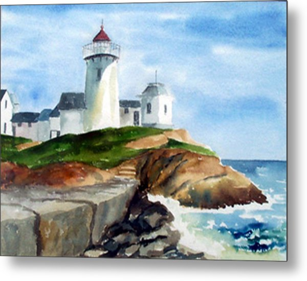 Eastern Point Light Metal Print by Anne Trotter Hodge