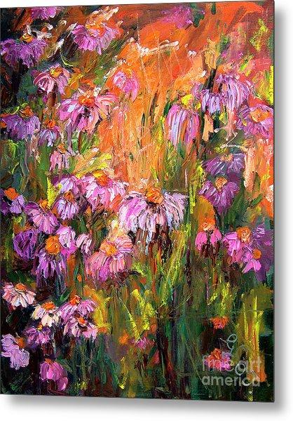 Echinecea Purple Coneflower By Ginette Metal Print