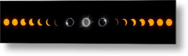 Eclipse Progression Metal Print