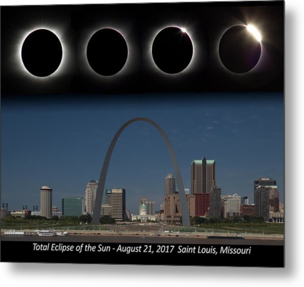 Eclipse - St Louis Skyline Metal Print