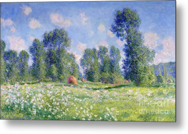 Effect Of Spring At Giverny Metal Print