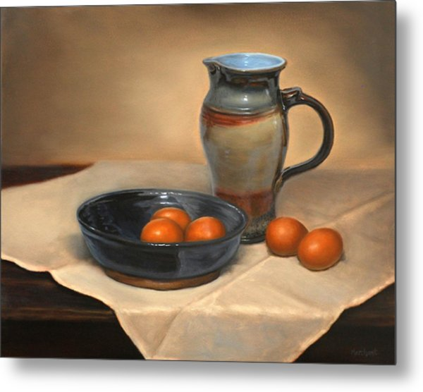 Eggs And Pitcher Metal Print
