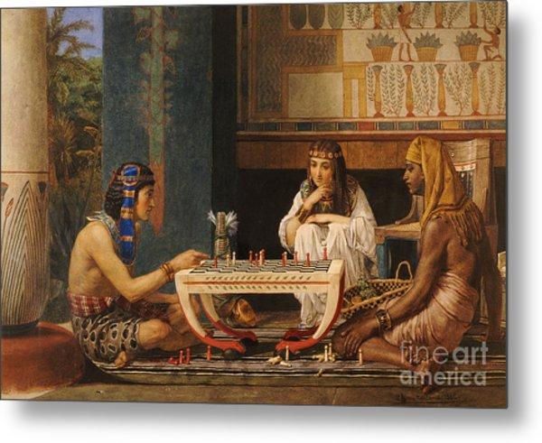 Egyptian Chess Players Metal Print