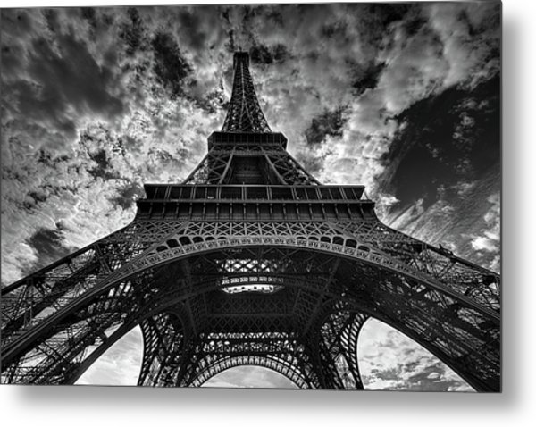 Eiffel tower metal print by allen parseghian