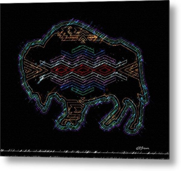 Electric Buffalo Metal Print