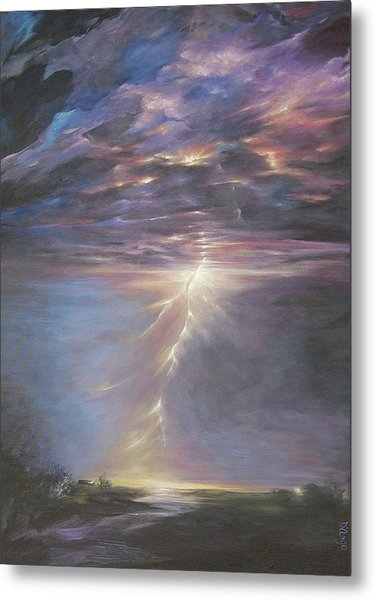 Electric Sky Metal Print
