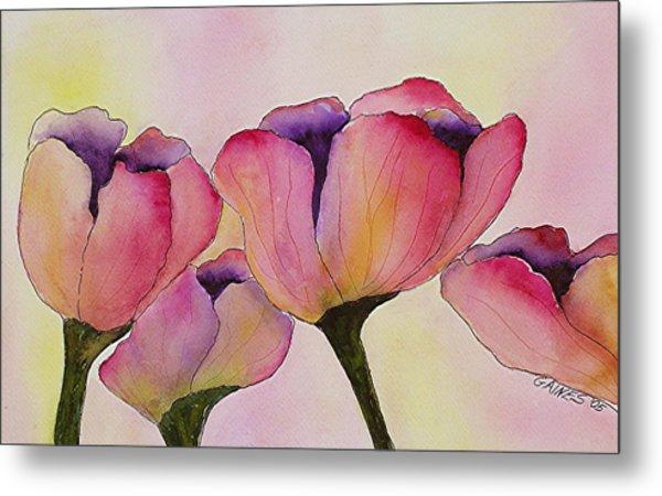 Elegant Tulips  Metal Print by Mary Gaines
