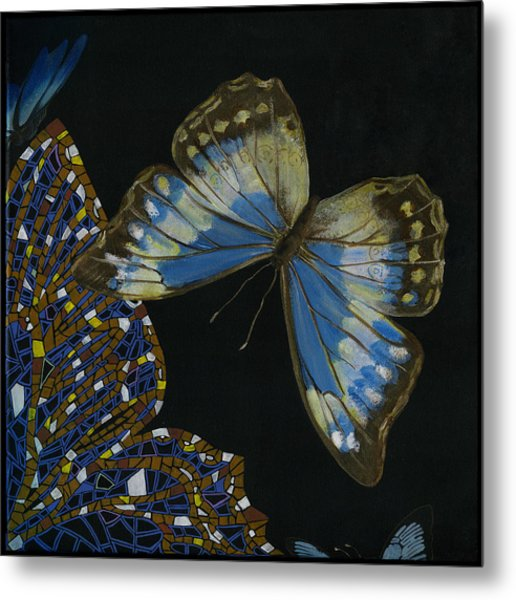 Elena Yakubovich - Butterfly 2x2 Top Right Corner Metal Print