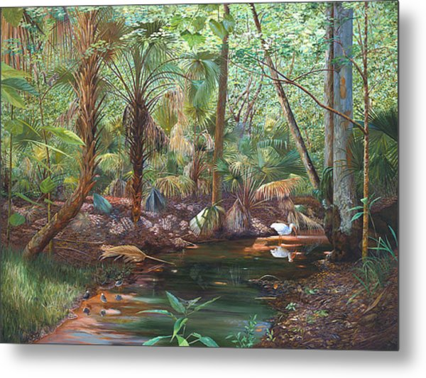 Enchanted Stream Metal Print