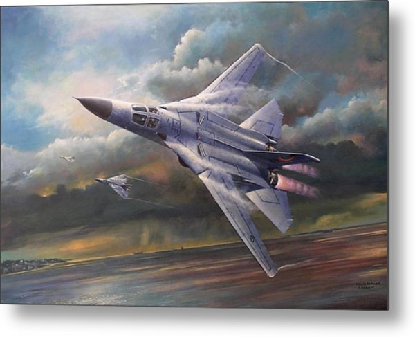 'end Of An Era' F111 Qld Final Flight Metal Print
