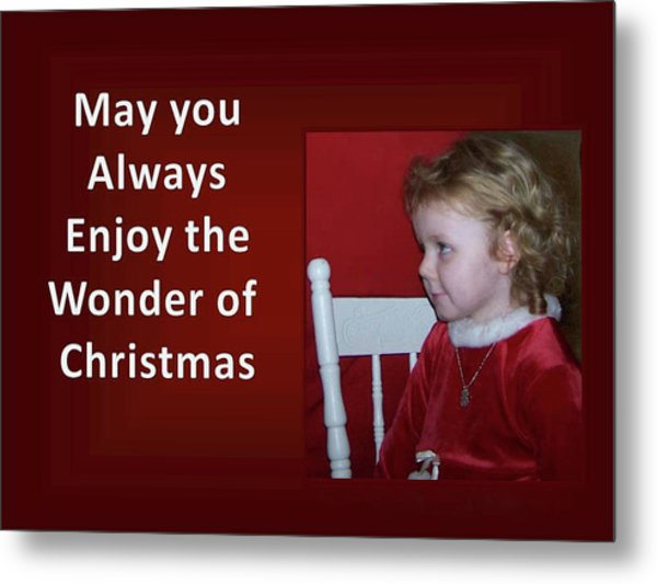 Metal Print featuring the digital art Enjoy The Wonder Of Christmas by Sonya Nancy Capling-Bacle