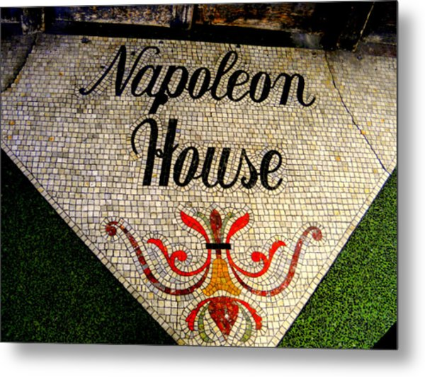 Entrance Mosaic Napoleon House Metal Print by Ted Hebbler