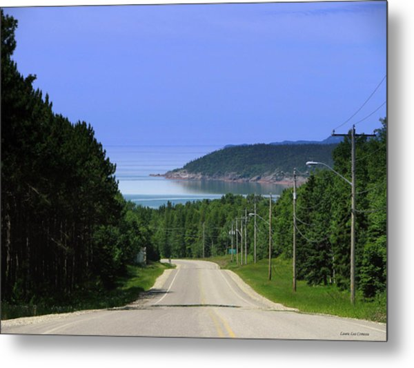 Entrance To The Town Of Marathon Ontario Metal Print by Laura Wergin Comeau