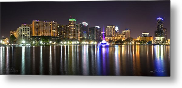 Eola Lake Pano Metal Print
