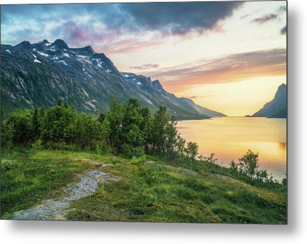 Ersfjord Sunset Metal Print