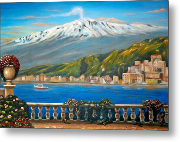 Etna Sicily Metal Print