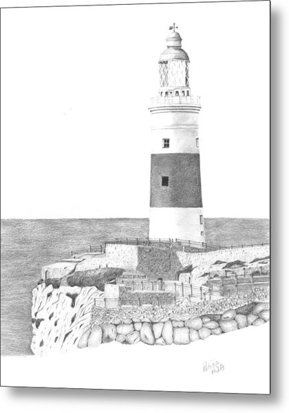 Europa Point Lighthouse Metal Print