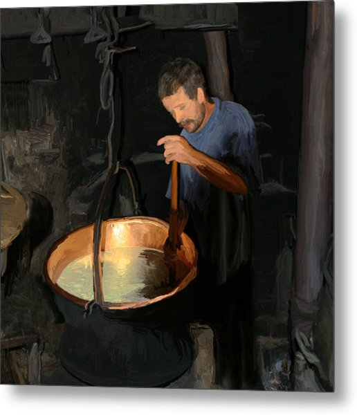 European Cheese Maker Metal Print by Carol Peck