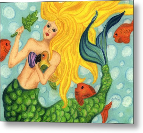 Eve The Mermaid Metal Print