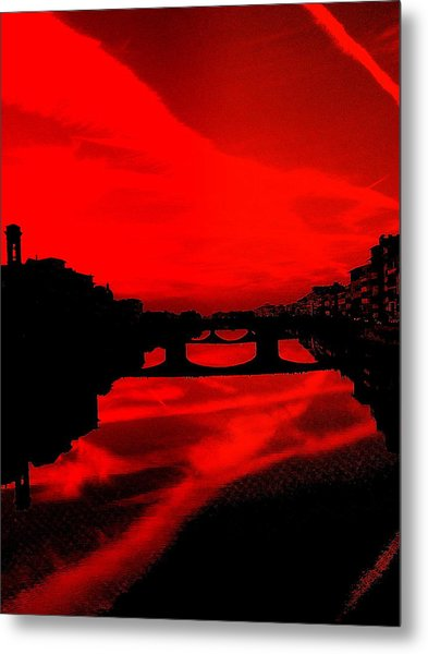 evening in Florence Metal Print