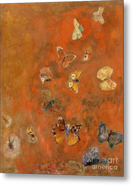 Evocation Of Butterflies Metal Print