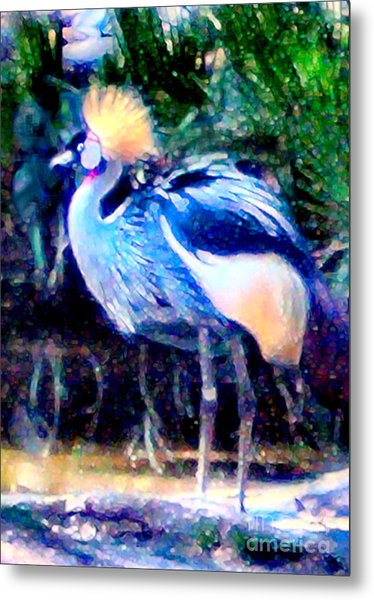 Metal Print featuring the painting Exotic Bird by Elinor Mavor
