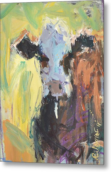 Expressive Cow Artwork Metal Print