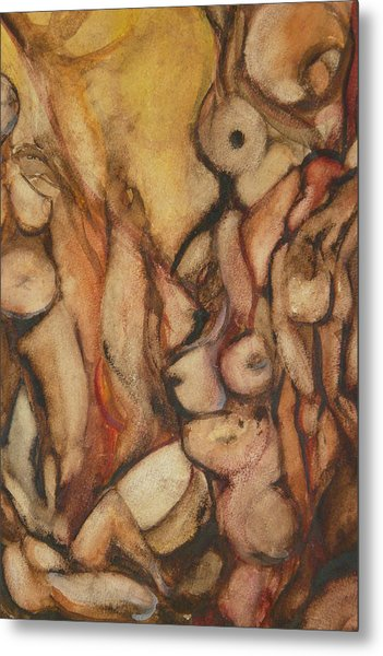 Fa Human Forest  Metal Print by Thierry-guenand   DAUGENN-