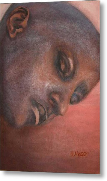 Faces Of Africa 1 Metal Print by Nellie Visser