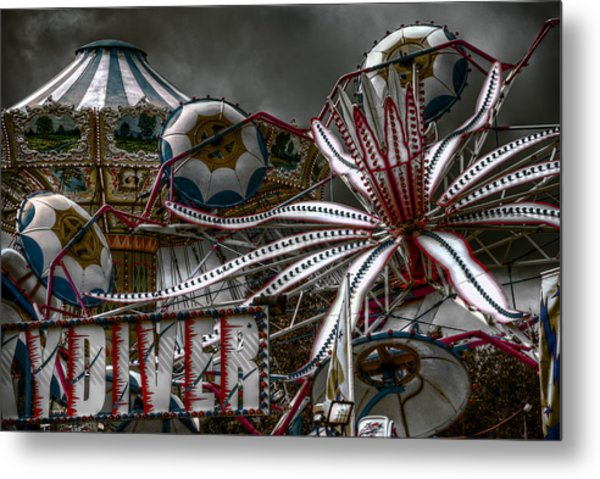 Fairground Rides Metal Print
