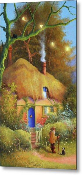 Fairy Cottage Metal Print