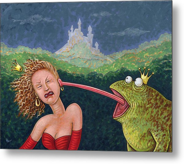 Fairy Tales The Frog Prince Metal Print