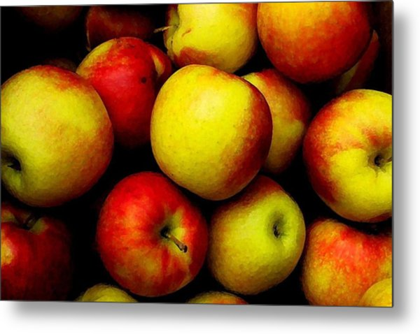 Fall Apples Metal Print by Dennis Curry