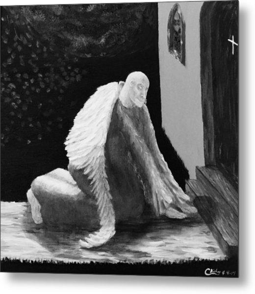 Fallen Angel Noir  Metal Print