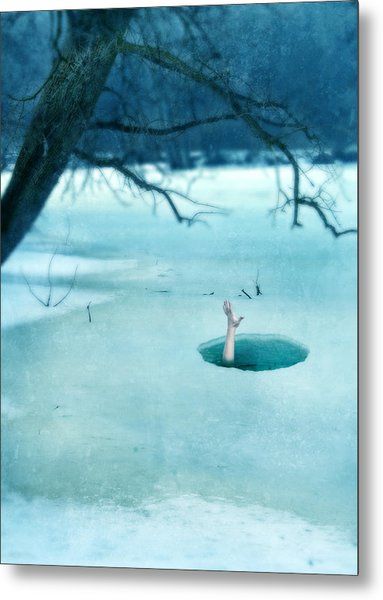 Fallen Through The Ice Metal Print