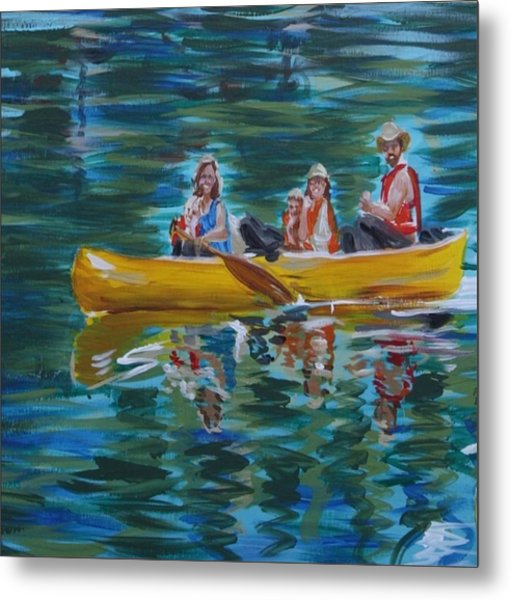 Family Canoe Trip From Spring 1 Metal Print