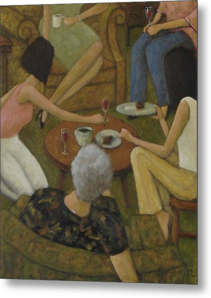 Family Gathering Metal Print