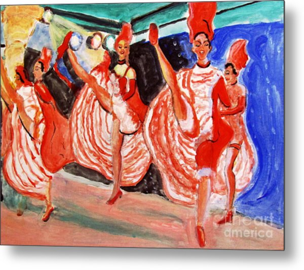 Famous French Cancan Metal Print