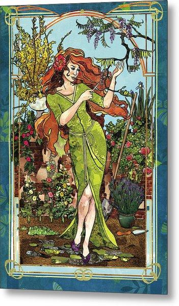 Fantasy Gardening Metal Print