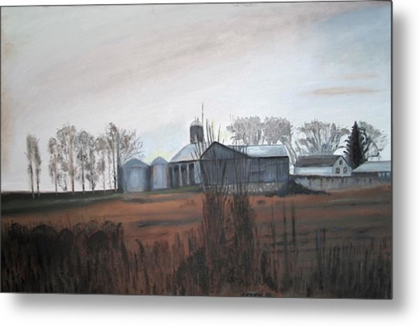 Farm In The Fall Metal Print by Keith Bagg