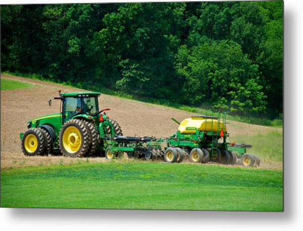 Farming The Field Metal Print