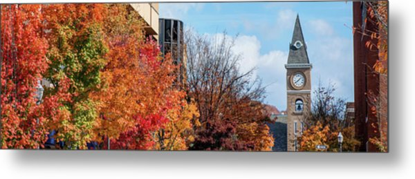 Fayetteville Arkansas Fall Color Cityscape Panorama Metal Print
