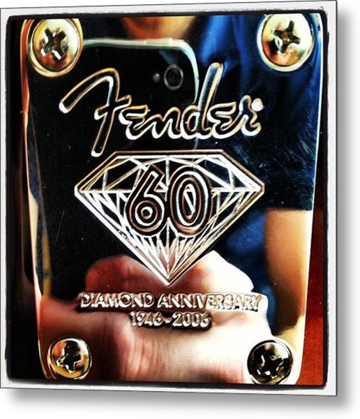 Fender Diamond Anniversary  Metal Print