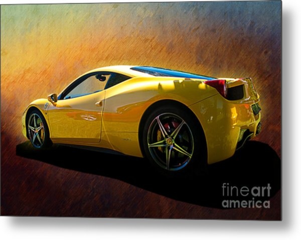 Ferrari 458 Italia Metal Print